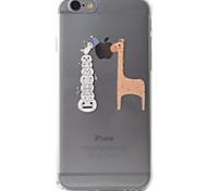 Para Funda iPhone 6 / Funda iPhone 6 Plus Transparente / Diseños Funda Cubierta Trasera Funda Logo Playing With Apple Suave TPU Apple