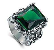 Муж. Массивные кольца Мода Винтаж Pоскошные ювелирные изделия бижутерия Драгоценный камень Титановая сталь Бижутерия Назначение