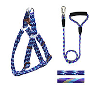 Dog Harness / Leash Adjustable/Retractable / Running / Safety / Training Purple Nylon