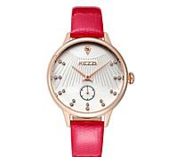 Women's Fashion Watch Wrist watch Quartz / Genuine Leather Band Cool Casual Red Brown Purple Brand