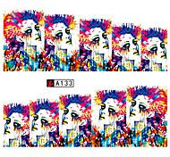 Phototherapy Nail Polish Watermark Stickers Abstract Painting Eye Nail Sticker