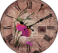 1PC European-Style  Elegant Large Wall Clock Retro Flower Quartz Clock