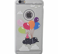 Balloon Pig Pattern TPU Material Glitter Diamond Phone Case For iPhone 6s 6 Plus