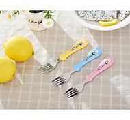 Plastic Handle Stainless Steel Tableware Spoon Fork
