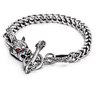 Bracelet Charmes pour Bracelets Acier inoxydable Forme d'Animal Style Punk Soirée Quotidien Regalos de Navidad Bijoux Cadeau Argent,1pc