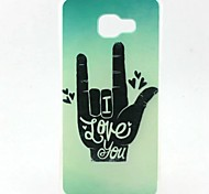 EFORCASE® Painted Gesture TPU Phone Case for Samsung Galaxy A7(2016) A5(2016) A5 A3(2016)
