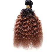 100g/pc Deep Wave 10-18Inch Color #T1B/30 Ombre Black Auburn Human Hair Weaves