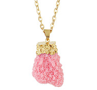 Gold Color Chain Long Resin Pendant Necklaces