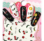 Fashion DIY Designer Water Transfer Nails Art Sticker Hawaii Fruit Party Fashion Nail Decal