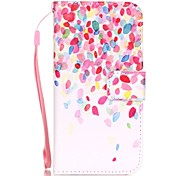 Color Leaves Pattern Material PU Card Holder Leather for  iPhone 7 7 Plus 6s 6 Plus SE 5s 5 5C 4S