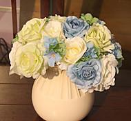 Hi-Q 1Pc Decorative Flower Camellia Wedding Home Table Decoration Artificial Flowers Bride Holding Flowers