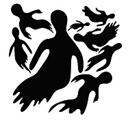 Halloween Stickers/ Decals Halloween Many Ghoasts Window Stickers For Home Decor