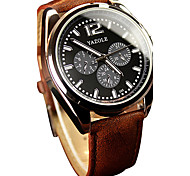 YAZOLE® Men's Quartz Casual Fashion New Watch Simple Business PU Belt Round Alloy Dial Watch Cool Watch Unique Watch