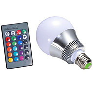 5W E27 RGB LED Bulb Light AC85-265V Remote Control Lamp