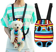 Cat / Dog Carrier & Travel Backpack / Front Backpack Pet Baskets Portable / Breathable / Leopard Multicolor Nylon / Cotton