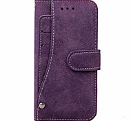 KARZEA Solid Color PU Leather Case and TPU Back Cover with Stand for Apple iPhone7/iPhone 7 Plus