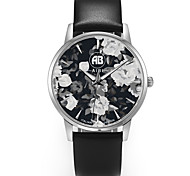 AIBI® Men's Fashion Watch Water Resistant/Water Proof Charles Florida Flower Black Wrist Watch For Men Cool Watch Brown Unique Watch With Watch Box