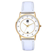 AIBI® Women's Watch Imitation Diamond Design Calendar Water Resistant/Water Proof Dress Watch White Golden Wrist Watch For Women With Watch Box