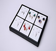 Jewelry Tray Jewelry Collection Box Stacked Plastic Tray 20 Ring Jewelry Display Panel