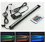 47cm RGB-LED-Aquariumlicht mit Luftblase Fernbedienung 27leds Farbwechsel flexibel uns Adapter ac100-240v Stecker