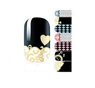 Fashion Chrome Hearts Geometry Love Clock Nail Decal Art Sticker Gel Polish Manicure