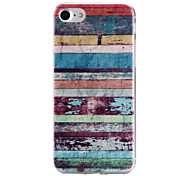 Painted Stripe Pattern  Transparent TPU Material Phone Case for  iPhone 7 7 Plus 6s 6 Plus SE 5s 5