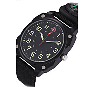 European style Military Watches compass Noctilucent Multifunction Nylon canvas belt sport Quartz watch Montres hommes