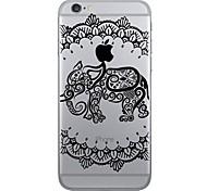 Für iPhone 7 Hülle / iPhone 7 Plus Hülle / iPhone 6 Hülle Muster Hülle Rückseitenabdeckung Hülle Elefant Weich TPU AppleiPhone 7 plus /