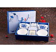 Custom Gift Set New Blue And White Porcelain Tableware Ceramics Tableware Suit Suit Chinese Promotions