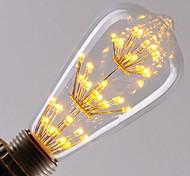 4 E26/E27 Lampadine LED a incandescenza ST64 40 LED ad alta intesità 360LM lm Bianco caldo Decorativo AC 220-240 V 1 pezzo