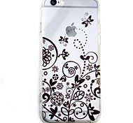 Butterfly Flower HD Pattern Embossed Acrylic Material TPU Phone Case For iPhone 7 7 Plus 6s 6 Plus