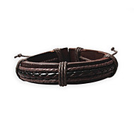 Unisex Fashion Jewelry Handmade Surfer Adjustable Genuine Leather Bracelet With Hemp Rope Casual/Daily