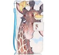 Tuta A portafoglio / A fantasia Fantasia animale Similpelle Difficile Copertura di caso per AppleiPhone 7 Plus / iPhone 7 / iPhone 6s