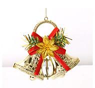 двойные колокола звона рождественской елки украшения гирлянды венок Merry Xmas колокола висит украшение для дома фестиваля поставок