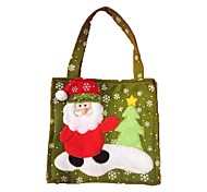 2PCSChristmas Decorations Christmas Gift Bags Candy Bags(Style random)