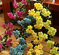 Set of 1 PCS 1 Branch Polyester Roses Wedding Decoration Artificial Flowers Long 35.4(inch)