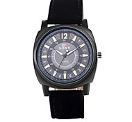 Men's Dress Watch Quartz Water Resistant/Water Proof Leather Band Casual Black Brand