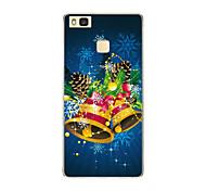 For Huawei P9 P9 lite P8 P8 lite Christmas bell TPU Soft Case Cover
