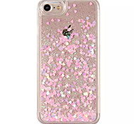 For iPhone 7 Case / iPhone 7 Plus Case / iPhone 6 Case Flowing Liquid / Transparent Case Back Cover Case Heart Hard PC AppleiPhone 7 Plus