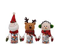 1PC Christmas Pet Green Candy Jar - Santa Claus / Snowman / Elk(Random Color)