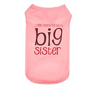 Cute Polyester Big Sister Dog Shirt for Pets Summer Dog Clothes