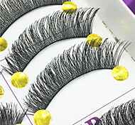 Eyelashes lash Full Strip Lashes Eyes Thick Lifted lashes Handmade Fiber Black Band 0.10mm 12mm