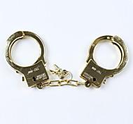 1шт гальванических золотые наручники для Хеллоуин костюм партии реквизита