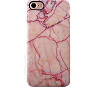 For iPhone 7 Case / iPhone 7 Plus Case / iPhone 6 Case Shockproof / IMD Case Back Cover Case Marble Soft TPU AppleiPhone 7 Plus / iPhone