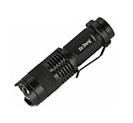 Cree Q5 Led Flashlight Torch/Convex Lens 3 Mode 200 Lumens Adjustable Focus/Rechargeable/Small Size/14500 or AA Battery