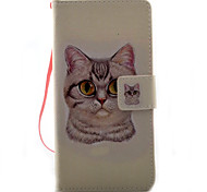For Xperia X XA XP XZ Case Cover Cat Pattern Painting PU Leather Material Card Stent