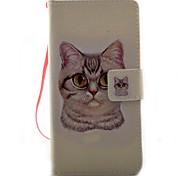 Para sony xperia x xa capa capa gato padrão pintura pu material de couro cartão stent para xp xz