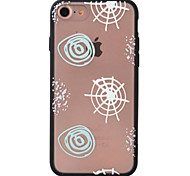 Geometry Pattern TPU  Acrylic Combo Relief Material Phone Case for iPhone 7 7plus 6S 6plus