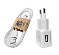 Carga rápida cargador de Inicio / Cargador portatil Enchufe EU 1 puerto USB con cable para el teléfono móvil(5V , 1A)