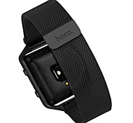 Black / Silver Stainless Steel Milanese Loop For Fitbit Watch 23mm